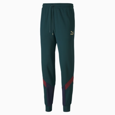 Italia Iconic MCS Men's Track Pants, Ponderosa Pine-Peacoat, small-GBR