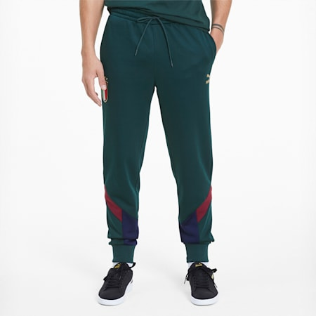 FIGC Iconic MCS Men's Track Pants, Ponderosa Pine-Peacoat, small