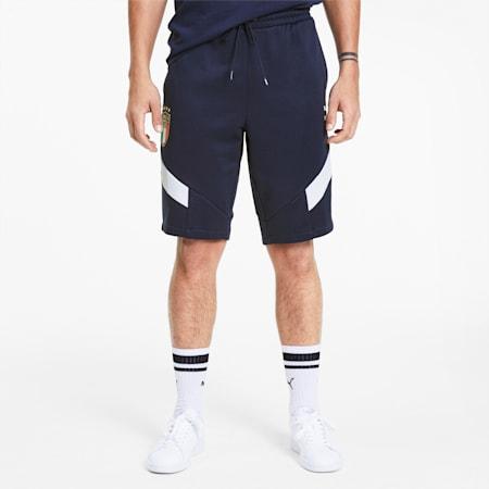Italia Iconic MCS Men's Knitted Shorts, Team Power Blue-Peacoat, small