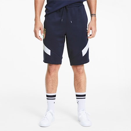 Italia Iconic MCS Men's Knitted Shorts, Team Power Blue-Peacoat, small-GBR