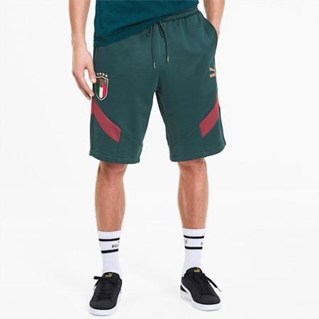 Italia Iconic MCS Men's Knitted Shorts, Ponderosa Pine-Peacoat, small-IND