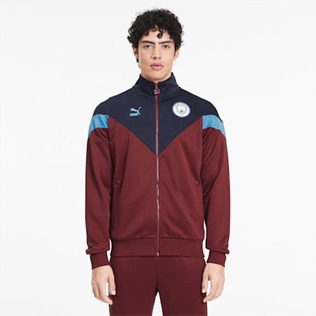 Track jacket da uomo Man City Iconic MCS, Cordovan-Peacoat, small