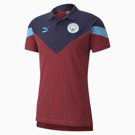 Polo Manchester City FC Iconic MCS, homme, cordovan, petit