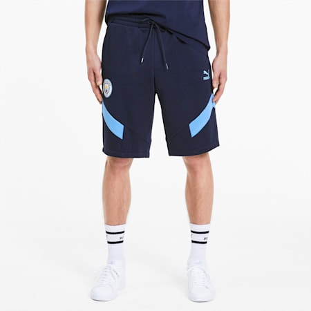 Man City Iconic MCS Men's Shorts, Peacoat-Team Light Blue, small