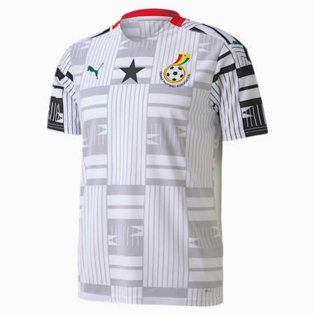 Ghana Home Replica Men's Jersey, Puma White-Puma Black, small