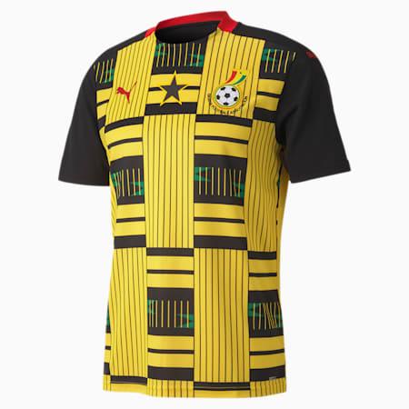 Ghana Away Replica Men's Jersey, Puma Black-Dandelion, small-GBR