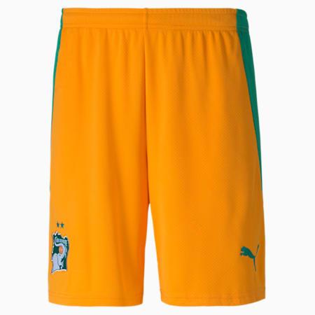 Ivory Coast Home Replica Men's Football Shorts, Flame Orange-Pepper Green, small-GBR