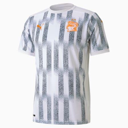 Ivory Coast Away Replica Men's Jersey, Puma White-Flame Orange, small-GBR