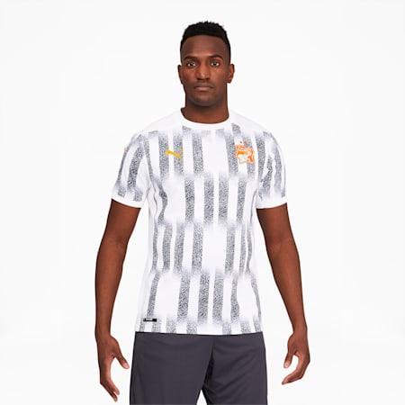 Ivory Coast Men's Away Replica Jersey, Puma White-Flame Orange, small