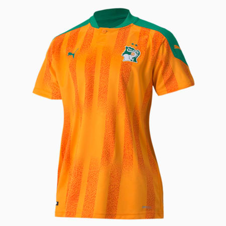 Ivory Coast Home Replica Youth Jersey, Flame Orange-Pepper Green, small