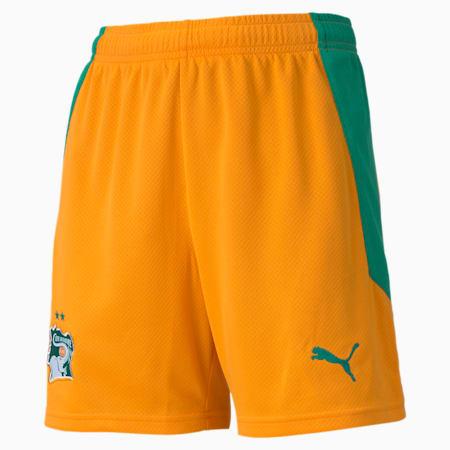 Ivory Coast Replica voetbalshort jongeren, thuistenue, Flame Orange-Pepper Green, small