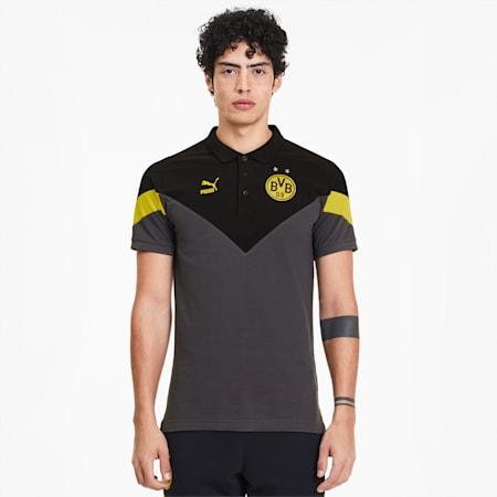 Legendarna męska koszulka polo MCS BVB, Asphalt-Puma Black, small