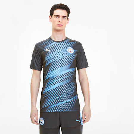 Manchester City FC League Stadium Jersey, Asphalt-Team Light Blue, small
