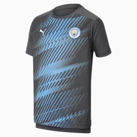 Manchester City FC Boys' League Stadium Jersey JR, Asphalt-Team Light Blue, small