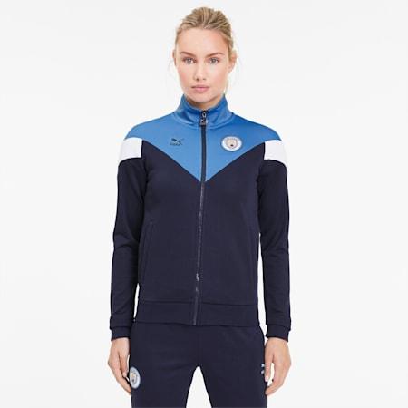 Man City Iconic MCS Damen Trainingsjacke, Peacoat-Team Light Blue, small