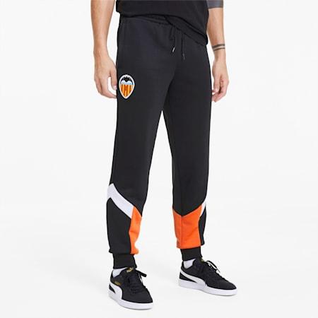 Valencia CF Men's MCS Track Pants, Puma Black-Vibrant Orange, small