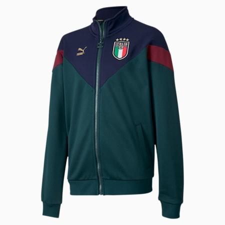 Italia Kids' MCS Track Jacket, Ponderosa Pine-Peacoat, small-GBR
