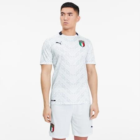 Męska replika wyjazdowej koszulki Włoch, Puma White-Peacoat, small