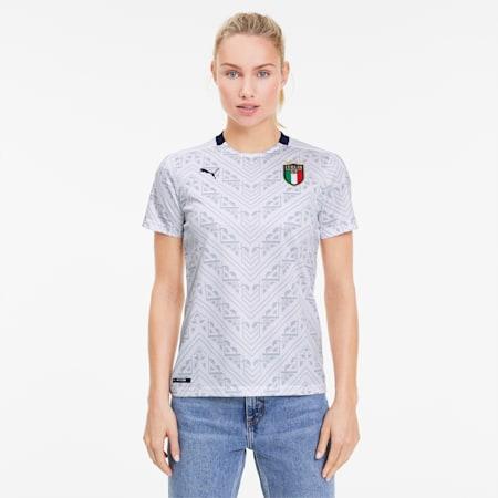 Damska replika wyjazdowej koszulki Włoch, Puma White-Peacoat, small
