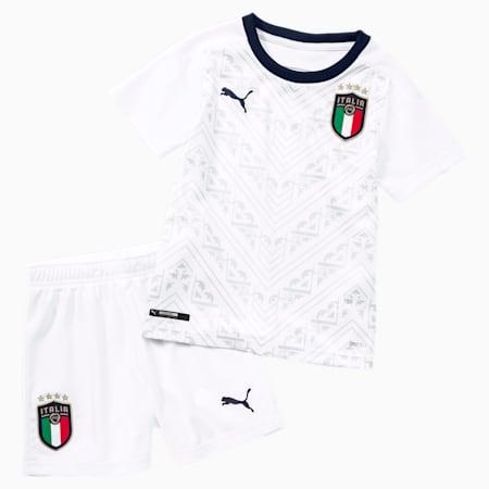 Italia Kinder Mini Auswärtsset, Puma White-Peacoat, small