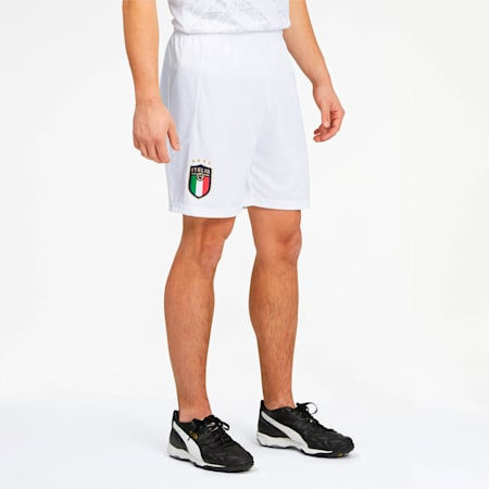 FIGC Men's Home and Away Replica Shorts, Puma White-Peacoat, small