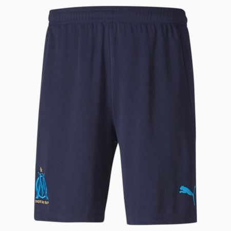Olympique de Marseille Replica Men's Football Shorts, Peacoat-Bleu Azur, small