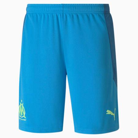 Shorts da calcio Olympique de Marseille Replica uomo, Bleu Azur-Vallarta Blue, small