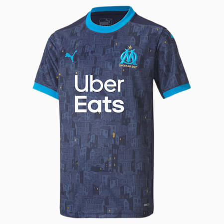 Olympique de Marseille Away Replica Jugend Trikot, Peacoat-Bleu Azur, small