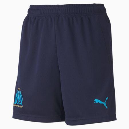Olympique de Marseille Replica Youth Football Shorts, Peacoat-Bleu Azur, small-GBR