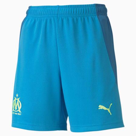 Olympique de Marseille Replica Youth Football Shorts, Bleu Azur-Vallarta Blue, small-GBR