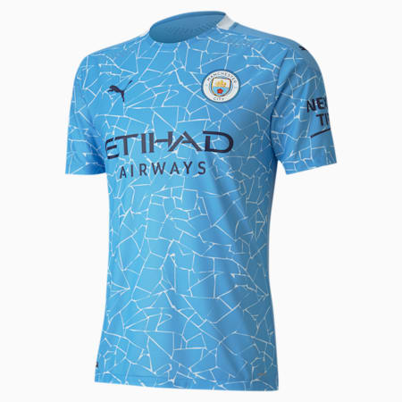 Camiseta para hombre auténtica de la 1.ª equipación del Manchester City, Team Light Blue-Peacoat, small