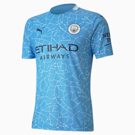 Man City Authentic thuisshirt voor heren, Team Light Blue-Peacoat, small