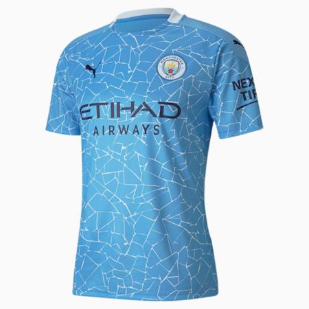 Manchester City FC Men's Home Replica Jersey, Team Light Blue-Peacoat, small-GBR