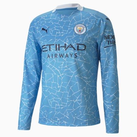 Męska replika koszulki domowej z długim rękawem Man City, Team Light Blue-Peacoat, small