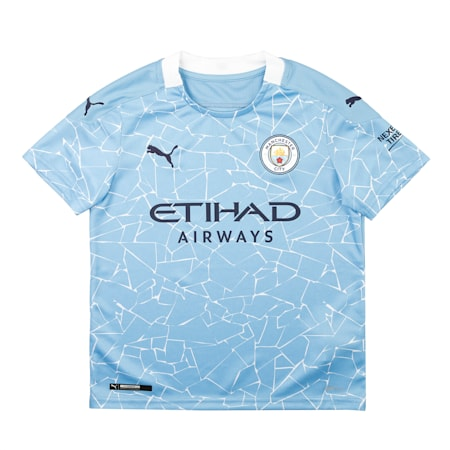 Manchester City FC Home Replica dryCELL Kid's Jersey, Team Light Blue-Peacoat, small-IND