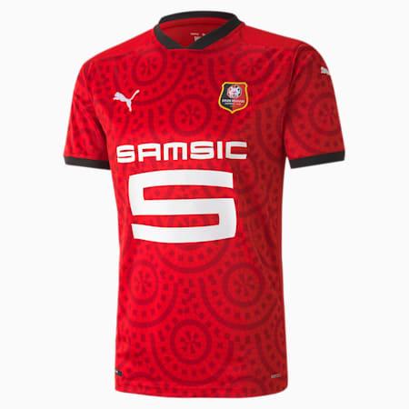 Męska replika koszulki domowej Stade Rennais, Puma Red-Puma Black, small