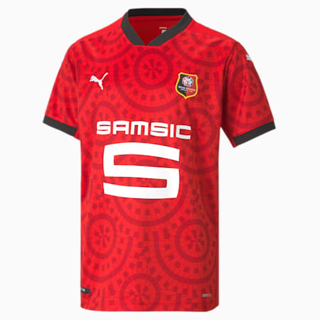 Camiseta juvenil réplica de la 1.ª equipación del Stade Rennais, Puma Red-Puma Black, small