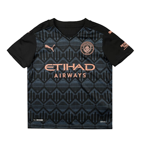 Manchester City Away Replica dryCELL Kid's Jersey, Puma Black-Dark Denim, small-IND