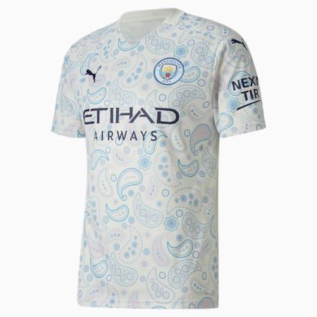 Manchester City FC Men's Third Replica Jersey, Whisper White-Peacoat, small-SEA
