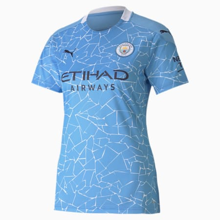 Maillot Domicile Manchester City Replica femme, Team Light Blue-Peacoat, small
