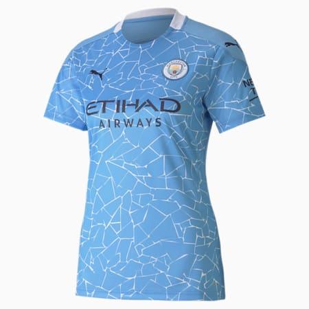 Man City Replica voetbaljersey dames, thuistenue, Team Light Blue-Peacoat, small