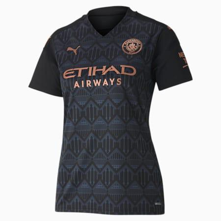 Man City Away Replica Women's Jersey, Puma Black-Dark Denim, small-GBR