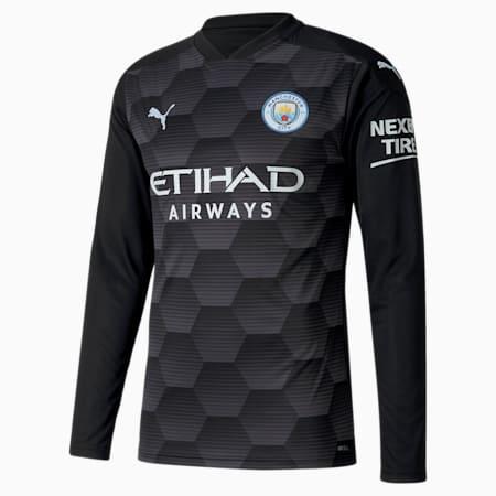 Manchester City FC Men's Replica Goalkeeper Jersey, Puma Black-Asphalt, small