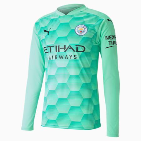 Maillot de goal à manches longues Manchester City Replica homme, Green Glimmer-AQUA GREEN, small