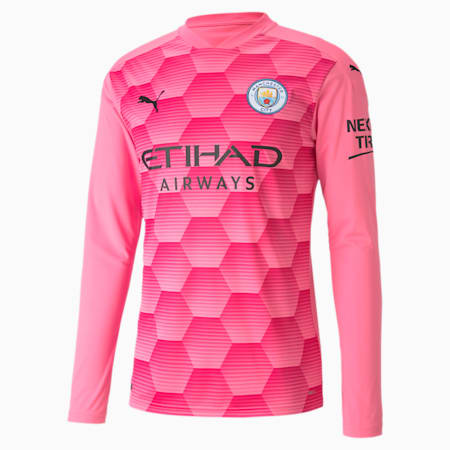 Maillot de goal à manches longues Manchester City Replica homme, Pink Glimmer-Beetroot Purple, small