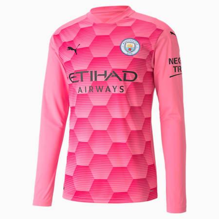 Man City Replica keepersshirt met lange mouw(en) voor heren, Pink Glimmer-Beetroot Purple, small