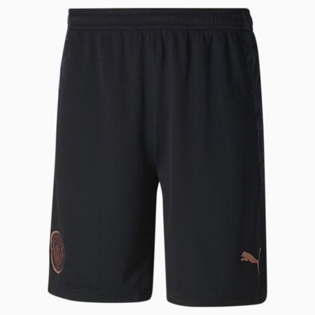 Manchester City FC Men's Replica Shorts, Puma Black-Dark Denim, small-GBR