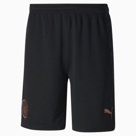 Manchester City FC Men's Replica Shorts, Puma Black-Dark Denim, small