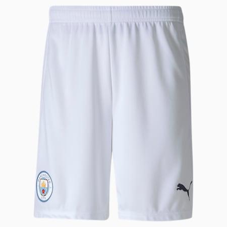 Manchester City FC Men's Replica Shorts, Puma White-Peacoat, small