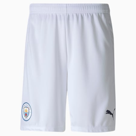 Manchester City FC Men's Replica Shorts, Puma White-Peacoat, small-GBR
